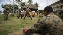 Marines with Marine Rotational Force – Darwin box during a French Armed Forces Nautical Commando Course at Quartier Gribeauval, New Caledonia, August 16, 2016. The course is a part of Exercise AmeriCal 16, a bilateral training exercise designed to enhance mutual combat capabilities and improve relations with our partners by exchanging a U.S. Marine Corps and French Armed Forces infantry platoon. While the U.S. Marines are in New Caledonia, the French infantry platoon traveled to Australia to participate in Exercise Koolendong 16 with U.S. and Australian forces.