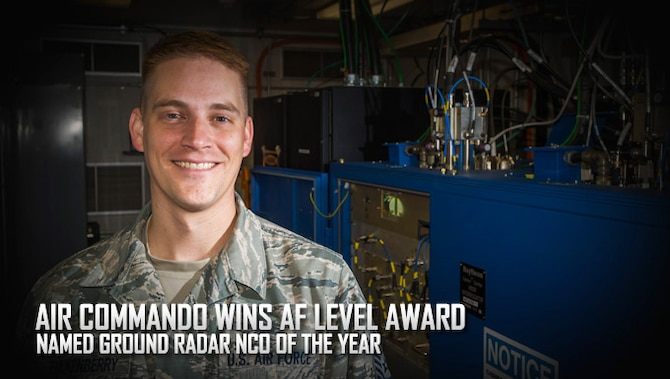 U.S. Air Force Tech Sgt. Derick Faulkenberry, 27th Special Operations Support Squadron ground radar section chief, stands in the ground radar maintenance room August 23, 2016, at Cannon Air Force Base, N.M. Faulkenberry was just named the Air Force's Ground Radar NCO of the Year. (U.S. Air Force photo by U.S. Air Force Staff Sgt. Eboni Reams/Released)