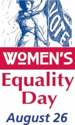 Women's Equality Day is celebrated each year on August 26th.