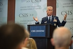 Air Force Gen. Paul J. Selva, vice chairman of the Joint Chiefs of Staff, speaks to attendees of a military strategy forum at the Center for Strategic and International Studies in Washington, D.C., Aug. 25, 2016. Selva discussed the future of joint capabilities and military innovation. DoD photo by Army Sgt. James K. McCann
