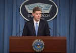 Pentagon Press Secretary Peter Cook briefs reporters at the Pentagon, Aug. 25, 2016. DoD photo by Navy Petty Officer 1st Class Tim D. Godbee