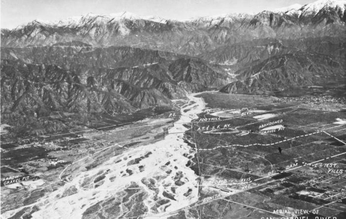 Upstream of Santa Fe Dam Site 1938