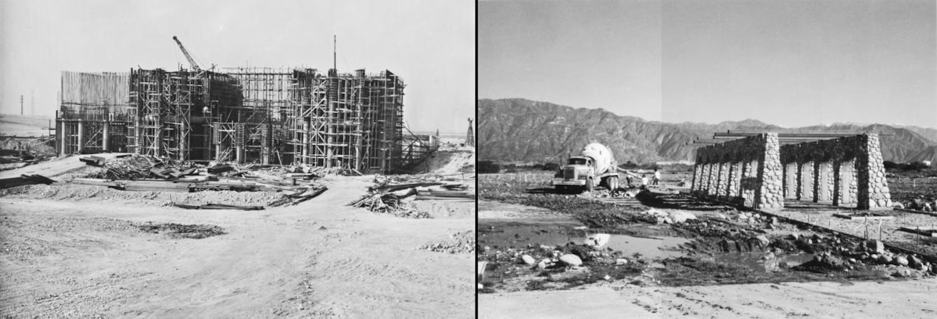 Construction of Santa Fe Dam and Spillway