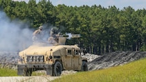 Marines with 3rd Battalion, 6th Marine Regiment fire a Tube-launched, Optically tracked, Wire-guided (TOW) missile during a battle drill at Marine Corps Base Camp Lejeune Camp Lejeune, North Carolina, Aug. 23, 2016.  The Marines performed the drills using the M41A4 Saber Missile System, which can be effective at up to 4,000 meters.