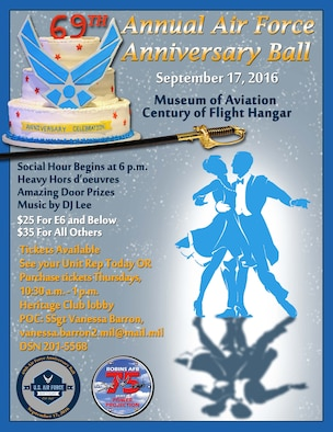 Robins 69th Air Force ball official poster