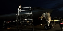 U.S. Air Force Staff Sgt. Loverta DeGraitis, an aerospace propulsion craftsman assigned to the 509th Aircraft Maintenance Squadron, stands atop a B-2 Spirit to perform post-flight inspections on the aircraft Aug. 24, 2016 at Andersen Air Force Base, Guam. U.S. Strategic Command forces operate 24-hours-a-day, seven-days-a-week detecting and deterring strategic attack against the U.S. and our allies. (U.S. Air Force photo by Senior Airman Jovan Banks)