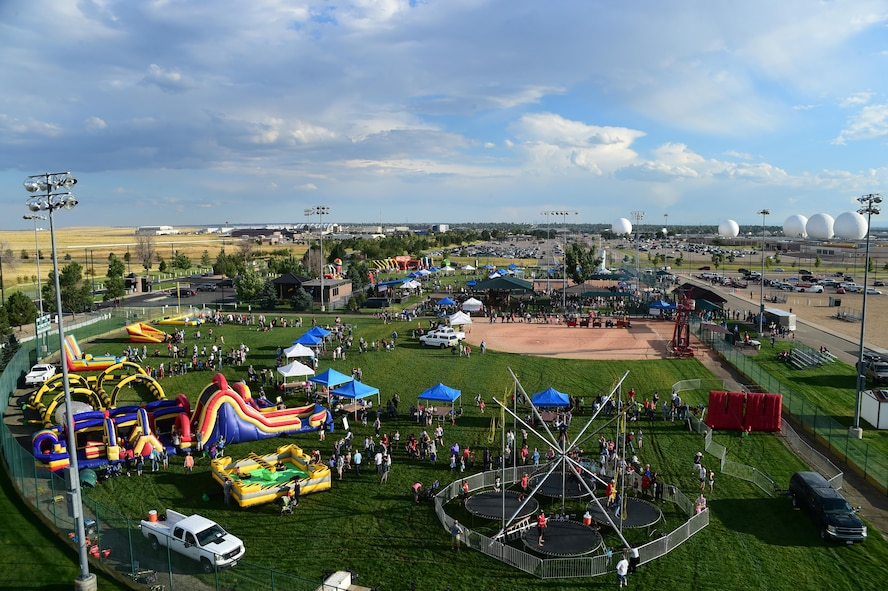 The annual FunFest community fair took place Aug. 26, 2016, on Buckley Air Force Base, Colo. FunFest provides base members with different attractions, games, and food to enjoy with friends and family. (U.S. Air Force photo by Senior Airman Luke W. Nowakowski/Released)