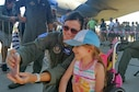 U.S. Air Force Maj. Heather Decker, a B-52 Stratofortress aircrew member with the 93rd Bomb Squadron, takes a selfie with a Slovak girl on Aug. 27, 2016 during the Slovak International Air Fest held in Sliač, Slovakia. The air show featured displays and aerial demonstrations with aircraft from across Europe and Asia; the B-52, from the Reserve 307th Bomb Wing, was the only U.S. representative at the event and was voted the best static display for the event. (U.S. Air Force photo by Master Sgt. Andrew Branning/Released)