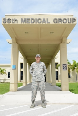 Staff Sgt. Jason Blas, 36th Medical Support Squadron pharmacy flight chief, helped saved the life of a tourist Aug. 5, 2016, at Gun Beach in Tamuning, Guam. With his experience as a former lifeguard, and now a medical professional, Blas provided life-saving care to a man who was drowning before emergency responders arrived on scene. (U.S. Air Force photo/Airman 1st Class Arielle Vasquez)