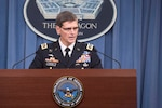 Army Gen. Joseph L. Votel, commander of U.S. Central Command, briefs reporters at the Pentagon, Aug. 30, 2016. DoD photo by Navy Petty Officer 1st Class Tim D. Godbee