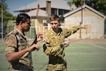 Pacific Endeavor 2016 exercise participants place high frequency radio antennas at Victoria Barracks in Brisbane, Australia, Aug. 28, 2016. DoD photo by Air Force Master Sgt Todd Kabalan