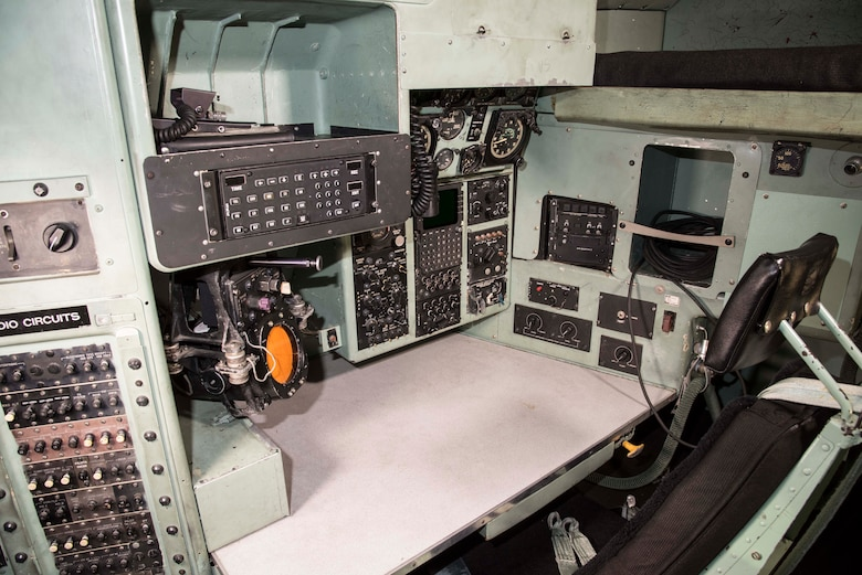 DAYTON, Ohio -- C-130E SPARE 617 cockpit at the National Museum of the U.S. Air Force. (U.S. Air Force photo by Ken LaRock)