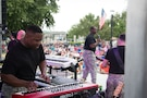 1st Infantry Division Rock Band performance at Sundown Salute July 3, 2016 in Heritage Park, Junction City, Kansas.