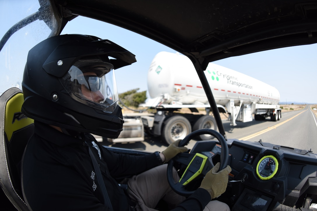 Staff Sgt. Jesse Travis, 30th Security Forces Squadron conservation law enforcement officer, drives an all-terrain vehicle en route to a hunting zone, Aug. 23, 2016, Vandenberg Air Force Base, Calif. To patrol the nearly 100,000 acres of Vandenberg, the conservation unit has different vehicles available for unique terrains. (U.S. Air Force photo by Airman 1st Class Robert J. Volio/Released)