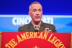 Marine Corps Gen. Joe Dunford, chairman of the Joint Chiefs of Staff, delivers remarks during the American Legion's 98th national convention in Cincinnati, Aug. 30, 2016. DoD photo by Navy Petty Officer 2nd Class Dominique A. Pineiro
