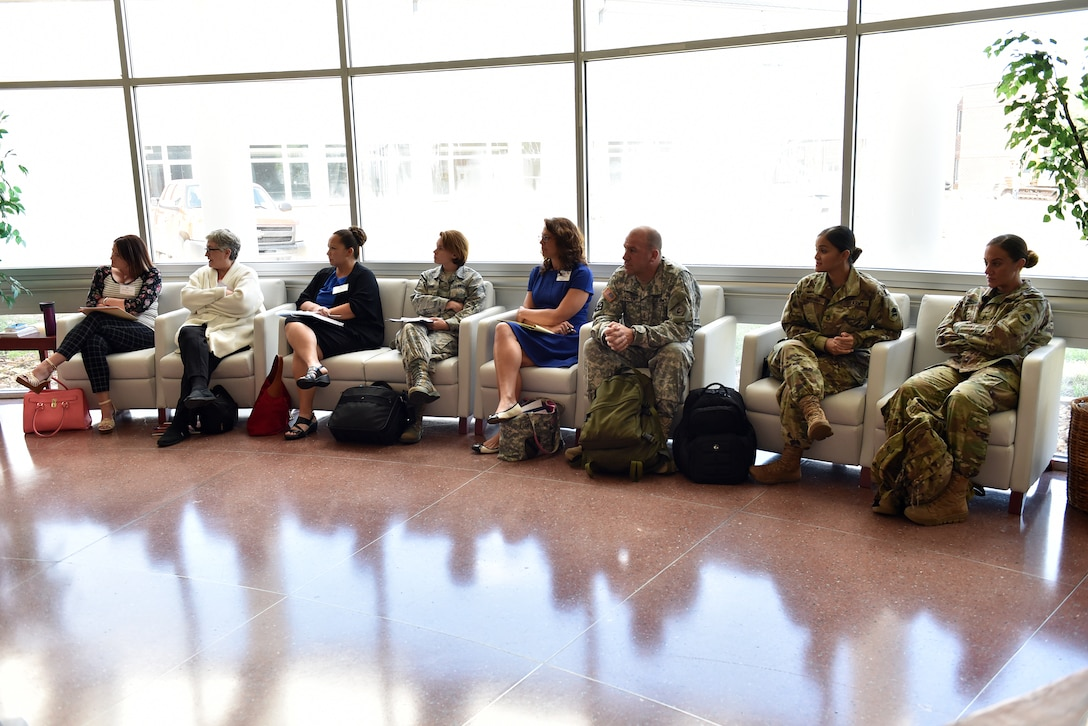 National Guard Soldiers and civilians assigned to general officers attend a networking breakout Aug. 30, 2016, during the General Officer Support Staff Course at the I.G. Brown Training and Education Center on McGhee Tyson Air National Guard Base in Louisville, Tenn. (U.S. Air National Guard photo by Master Sgt. Mike R. Smith)
