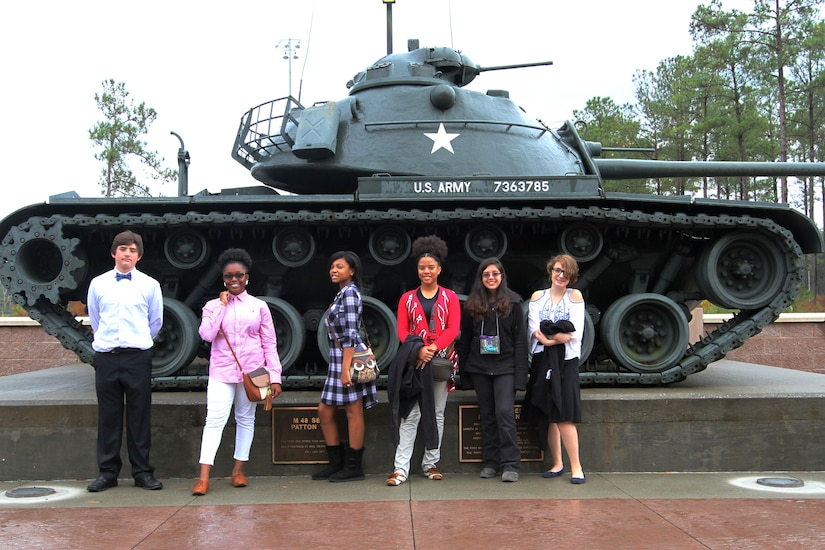 Furman Middle School students tour U.S. Army Central's Patton Hall as part of career day, Nov. 30, 2016, at Patton Hall on Shaw Air Force Base, S.C. Career Day is part of the Sumter School District and Chamber of Commerce student career forums and tours for area schools.