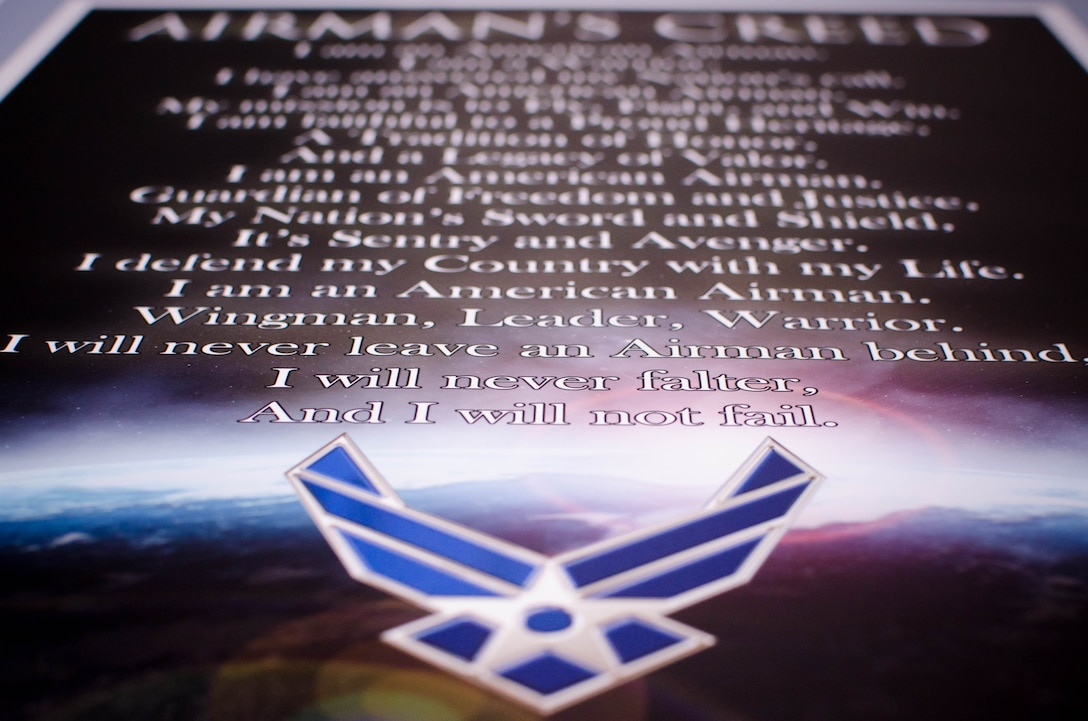 The Airman's Creed.(U.S. Air Force photo/Staff Sgt. Heather Heiney)