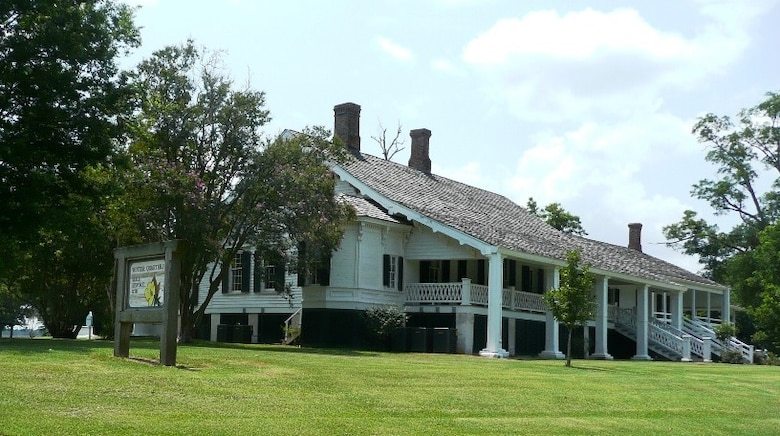 Thousands of Union soldiers marched past Winter Quarters Plantation, the country home of Dr. Haller Nutt, which still graces the banks of Lake St. Joseph.