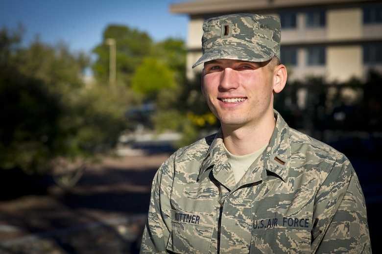 First Lt. John Kuttner, 926th Aircraft Maintenance Squadron maintenance operations officer, joined the ranks of the 926th Wing in Sept. 2016, at Nellis Air Force Base, Nev. Kuttner completed his bachelor's degree in Russian at Arizona State University and begins his maintenance operations officer training on Nov. 7, 2016. (U.S. Air Force/Senior Airman Brett Clashman)