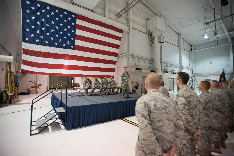 Col. Scott Chambers, the National Guard Bureau's deputy director of  logistics for installations, ...