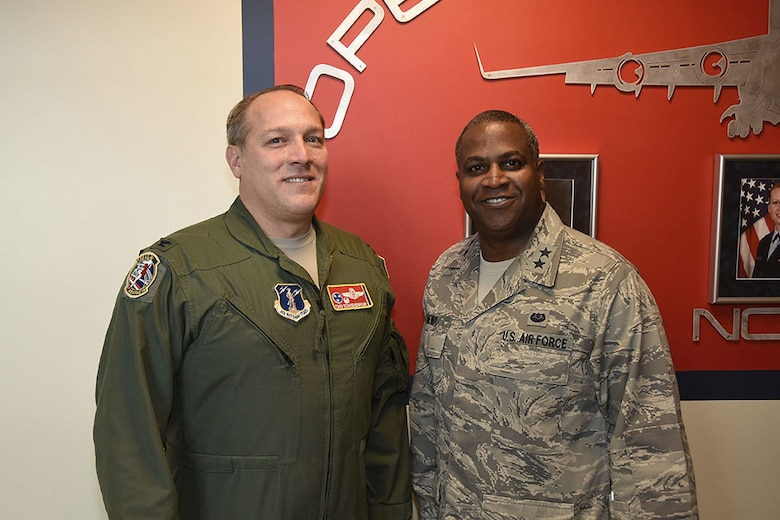 Major General Brian Newby and Colonel Todd Schoeneberger pose for a picture Nov. 5 2016