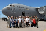 World War II veterans who served in the 100th Infantry Battalion toured a C-17 Globemaster III June 25 at Hickam Air Force Base, Hawaii.  Airmen from the Hawaii Air National Guard's 154th Wing hosted the tour.  Air Force photo/Master Sgt. Kristen M. Higgins