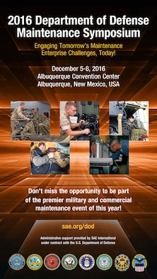 Kirtland officials are taking part in the 2016 Department of Defense Maintenance Symposium Dec. 5-8 at the Albuquerque Convention Center here.