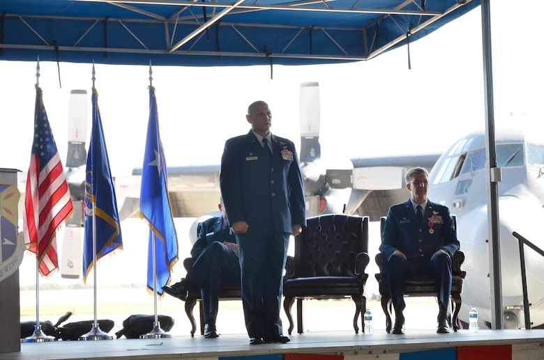 Col. Kurt Matthews assumed command of the 920th Rescue Wing, Patrick Air Force Base, Florida, Dec. 3 in a change of command ceremony. Matthews replaced Col. Jeffrey L. Macrander who served as the 920th RQW commander from August 2011 to December 2016. Approximately 400 civilian and military guests were in attendance. (U.S. Air Force photo./1st Lt. Anna-Marie Wyant)