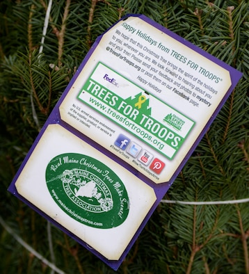Airmen stationed at Ellsworth Air Force Base, S.D., received a shipment of 175 real Christmas trees during Ellsworth's ninth annual Trees for Troops program Dec. 2, 2016. During the busy weeks leading up to Christmas, more than 18,000 real trees will be delivered to approximately 65 military bases. (U.S. Air Force photo by Airman 1st Class Denise M. Jenson)