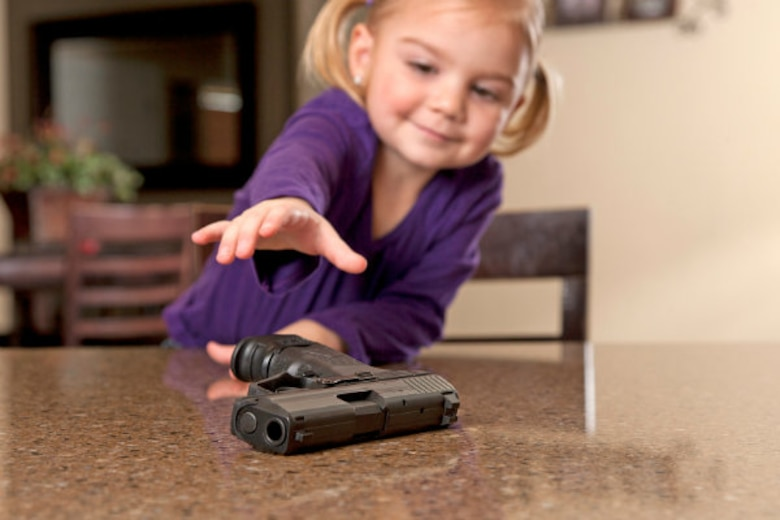 Storage guidelines state you have the responsibility to store firearms in such a manner as to deter theft and preclude improper usage, especially by children.