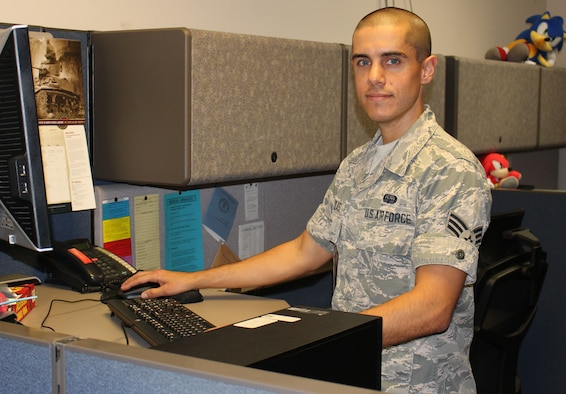 Senior Airman Christopher Elszasz, a database administrator for the Training Business Area, assigned to Enterprise Logistics Systems Division at Maxwell-Gunter Annex, Ala., was recently selected for Air Force Materiel Command Senior Leader Commissioning Program. He is slated to leave active duty and attend the University of Colorado – Colorado Springs for the fall 2017 semester. (Courtesy photo)