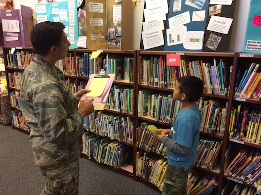 warhawks judge science fair projects at a local elementary school 2nd lt joshua quarderer 4th space control squadron listens to a fifth grade