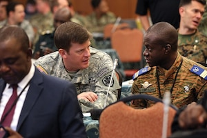 Special Operations Forces and civilian and military leaders from the United States and European and African nations meet to discuss military cooperation, an example of Title 200 authority.