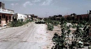 An abandoned Mogadishu Street known as the Green Line, Jan 1993. In conflict action bereft of regional understanding is more likely to have cascading negative effects.
