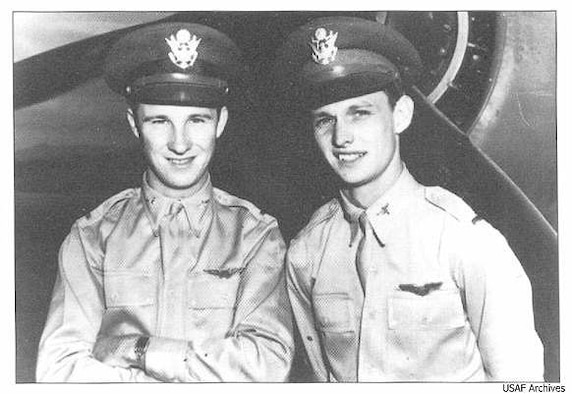 Second Lieutenants Ken Taylor (left) and George Welch.