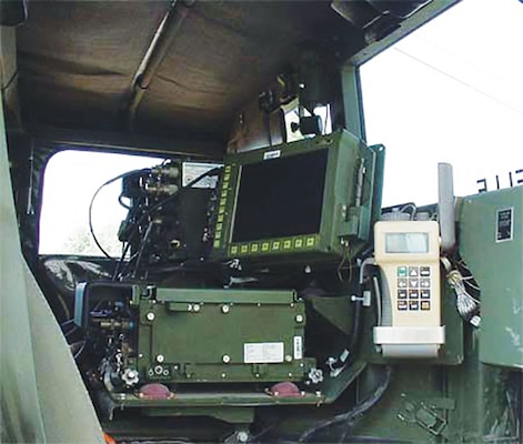 Applications like MyTrax and ATAK are replacing the original communications systems like the Force XXI Battle Command Brigade and Below FBCB2 computer and display, above in a Humvee.