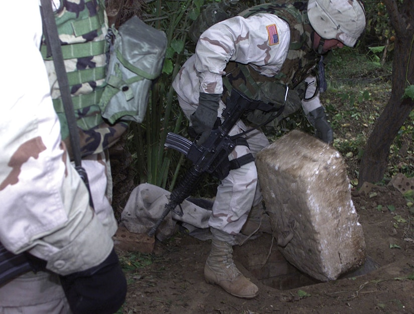 The SOTF leader calmly replaced the cover on the hole and replied, 'President Bush sends his regards.