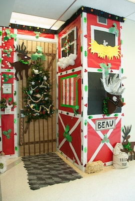 Winner of this year's door decorating contest is DLA Human Resources' Injury Compensation and Sexual Assault Prevention and Response Program offices in Room 1232. This is the team's ninth year in 1st place.