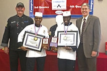 Sgt. Chewanea Roberts and Cpl. Kimanuy Hilton, Food Service Specialists, Headquarters and Support Squadron Marine Corps Air Station Miramar, took first place Marine Corps Installations- West Culinary Team of the Quarter competition of first competition of fiscal year 2017 here, Dec 7, 2016. The winning Culinary Team will have the chance to go to the Culiinary Institute of America in Hyde Park, New York.