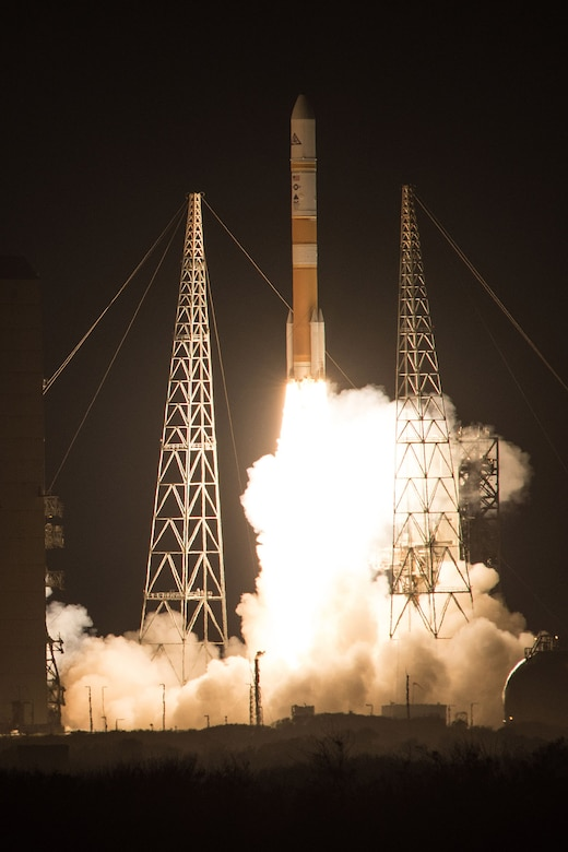 The 45th Space Wing supported United Launch Alliance's successful launch of the WGS-8 spacecraft aboard a ULA Delta IV rocket from Space Launch Complex 37 here December 7 at 6:53 p.m. ET.