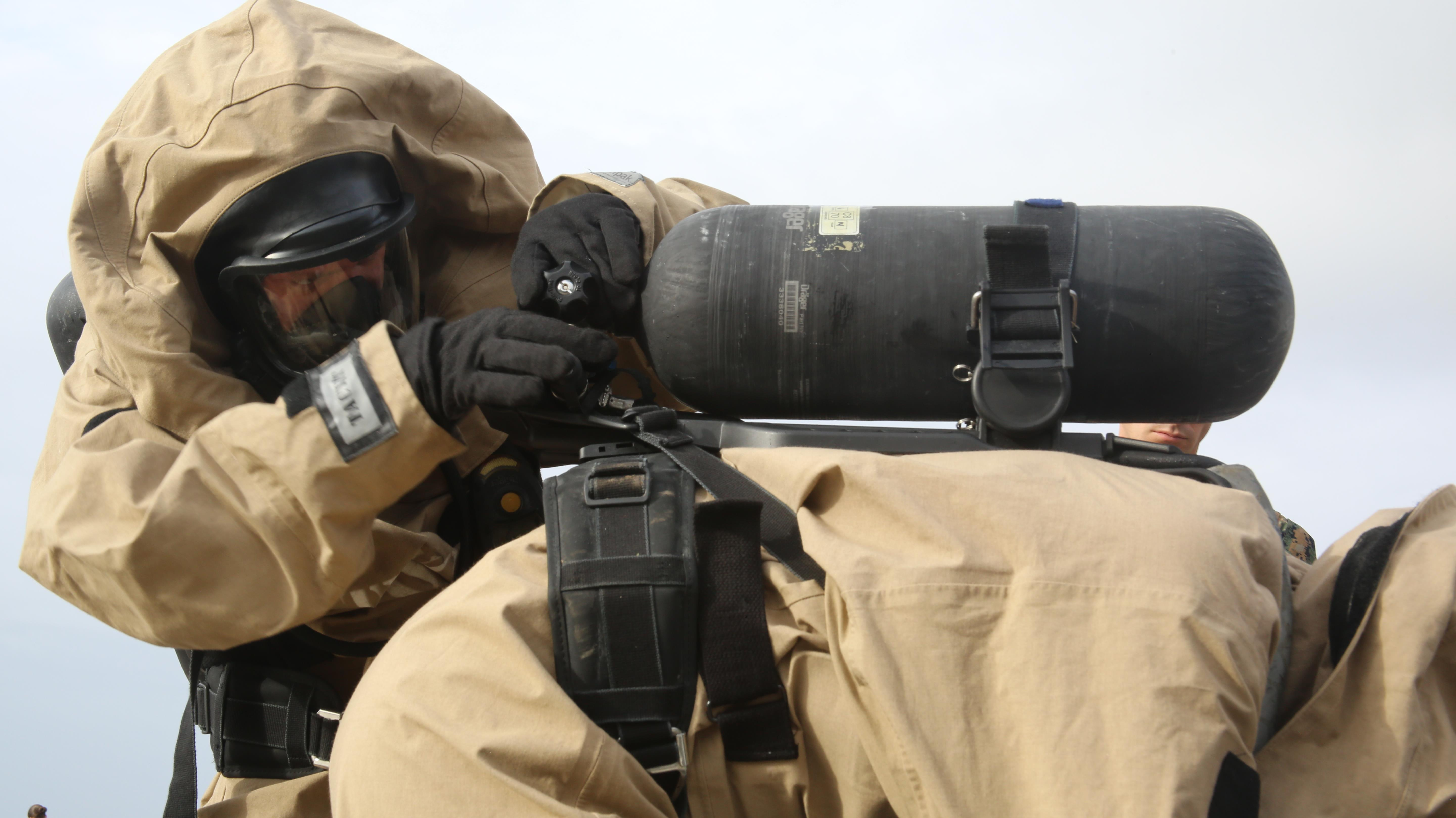 Behind the gas mask: CBRN Marines go back to roots of MOS training