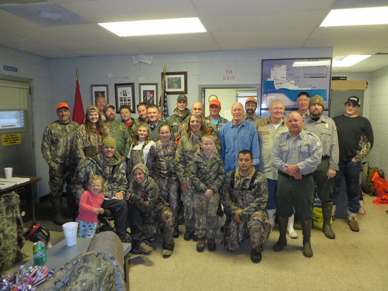 Vicksburg, MS….The U.S. Army Corps of Engineers' Louisiana Field Office partnered with Warrior Hunts and the National Wild Turkey Federation to host the Fifth Annual Patriot Hunt on December 3, 2016 at Columbia Lock and Dam. 