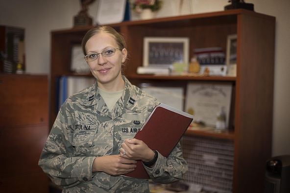 Captain Ekaterina Korulina is the Special Victims Counsel attorney appointed to Holloman Air Force Base, N.M. The Special Victims Counsel offers confidential legal advice and assistance to sexual assault victims. The U.S. Air Force started the SVC test program in 2013. It has now been adopted by every branch of the military. (U.S. Air Force photo illustration by Senior Airman Aaron Montoya)