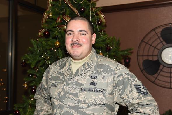 Tech. Sgt. Daniel Mendez, poses for a photo Dec. 1, 2016, at Beale Air Force Base, California. (U.S. Air Force photo/ Senior Airman Ramon A. Adelan)