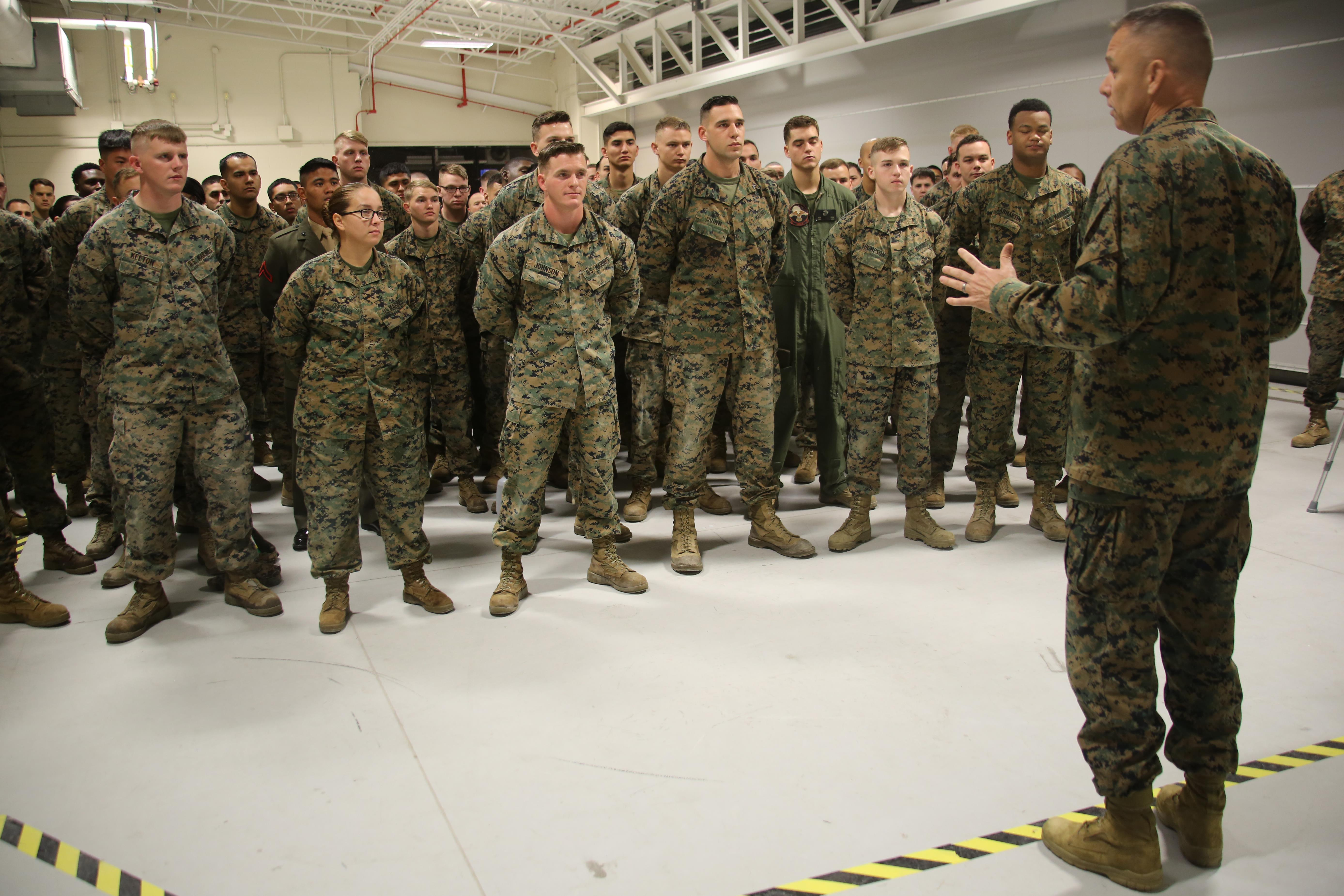 2nd MAW Commanding General visits Marines assigned to ...