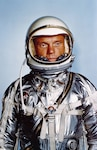 U.S. astronaut John Glenn in his flight suit in the early 1960s. NASA photo