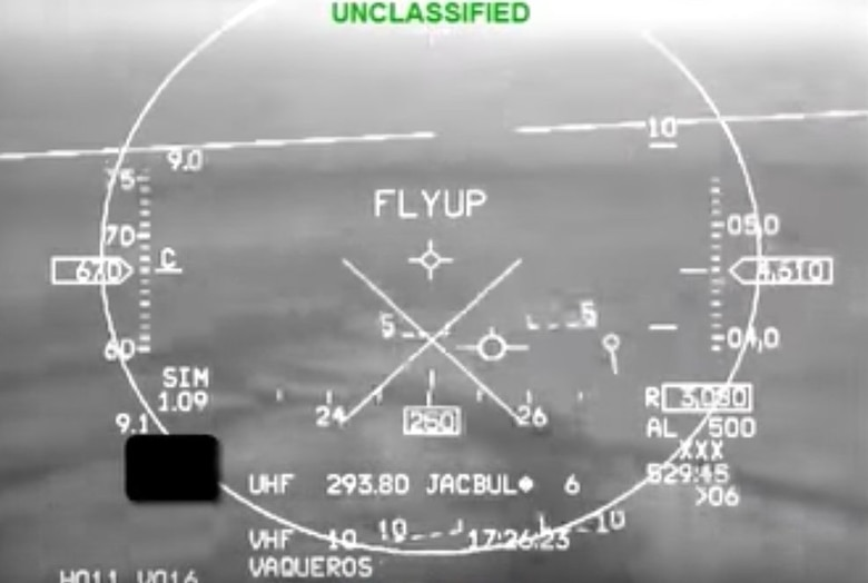 Declassified video footage from the head-up-display of a U.S. Air Force Arizona Air National Guard F-16 records the moment when the aircraftâs Automatic Ground Collision Avoidance System took control and saved the F-16 and its unconscious pilot from a ground crash in May 2016. The system engaged after the student pilot suffered G-induced loss of consciousness (G-LOC) and the aircraft started an uncontrolled steep descent from 17,000 feet while in full afterburner. (U.S. Air Force photo)