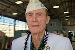 Jack Holder survived the attack on Pearl Harbor, Hawaii, Dec. 7, 1941, and attended the 75th anniversary commemoration at Wheeler Army Airfield, Dec. 5, 2016, that honored the more than 30 people killed there in the Japanese attack. DoD photo by Lisa Ferdinando