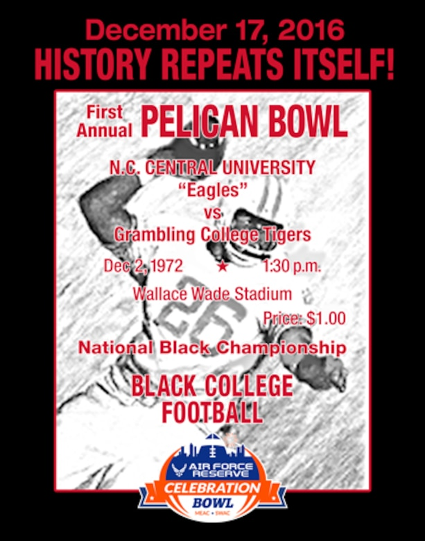 The Grambling State University Tigers, led by Head Coach Broderick Fobbs, are set to take on the North Carolina Central University Eagles, led by Head Coach Jerry Mack. This marks the second year for the Air Force Reserve Celebration Bowl, which showcases the heritage, legacy, pageantry and tradition of HBCUs. The game will be televised live on ABC to open the bowl season. The postseason college football bowl game will kick off at noon ET on Saturday at the Georgia Dome in Atlanta.